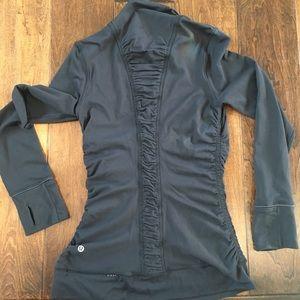 Lululemon 3/4 front zip long sleeve top